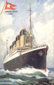 Titanic postcard courtesy of Titanic Honour and Glory