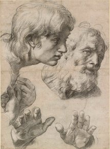 Two apostles. Courtesy of the Ashmolean Museum, University of Oxford.