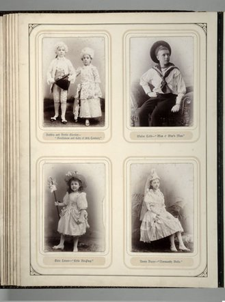 A page from the fancy dress photo album