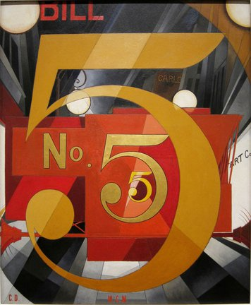 Charles Demuth, I Saw The Figure Five In Gold, 1928