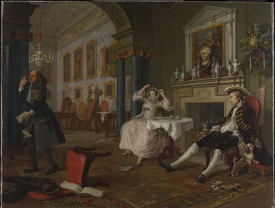 William Hogarth, Marriage-a-la-Mode II, The Tete a Tete, about 1743. Courtesy of the National Gallery.