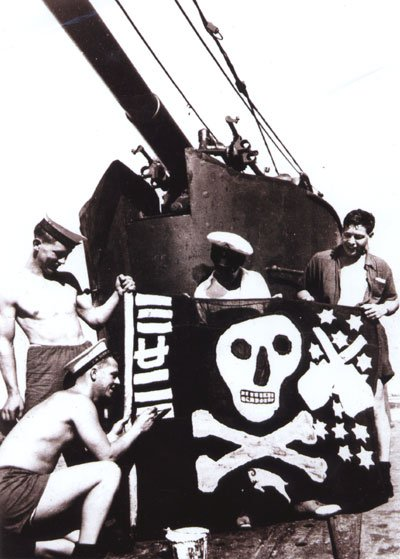 Torbay's Jolly Roger being painted