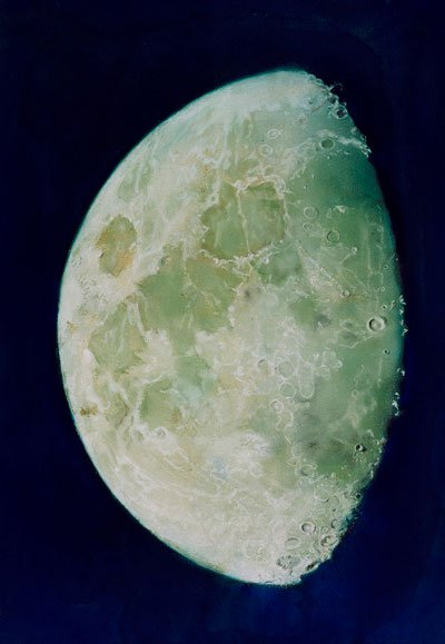 Framed pastel drawing entitled 'The Moon' by John Russell circa 1787 c. The National Maritime Museum, London
