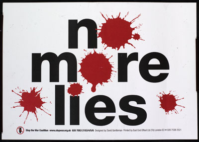 No More Lies, c. David Gentleman, reproduced with kind permission of the Stop the War Commission