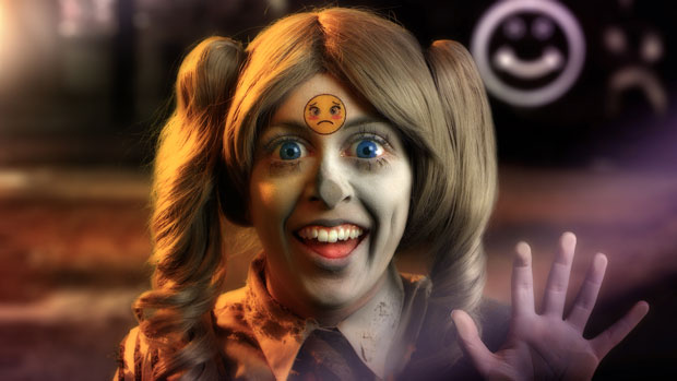 Rachel Maclean 'Feed Me', 2015. Courtesy of the artist, Arts Council Collection, South Bank Centre. Part of the 'I Want, I Want' Art and Technology exhibition at Birmingham Museums