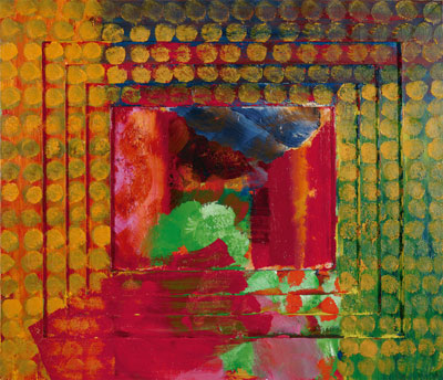 Portrait of the artist by Howard Hodgkin, 1984-87 Private Collection c Howard Hodgkin