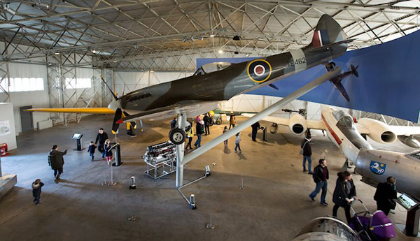 Inside the newly restored Military hangar at National Museum of Flight, East Fortune Airfield © Ruth Armstrong.