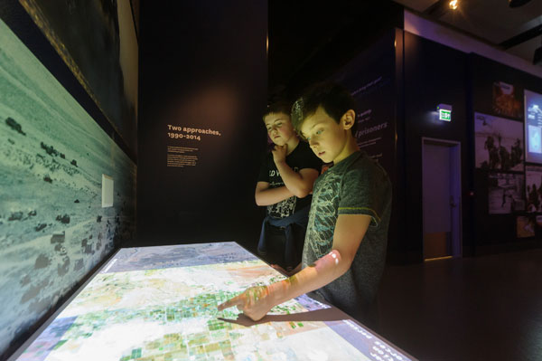 The National Army museum has reopened following major work. Images show visitors enjoying displays and interactives in the new galleries. This interactive allows visitors to make tactical battle decisions