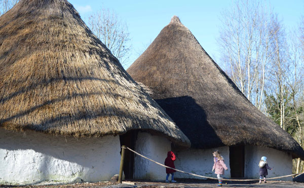 The Bryn Eryr Iron Age Farmstead has opened as the first building in the St Fagans National History Museum redevelopment project. Courtesy of National Museum Wales.