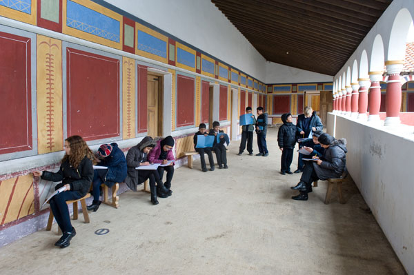 Arbeia Roman Fort and Museum, which became a school for a term to a class from a local primary school. Courtesy of King's College London.