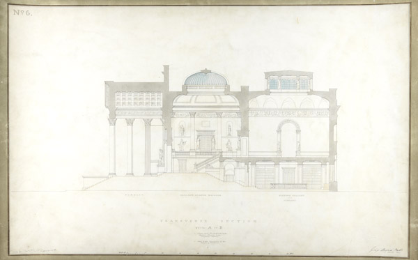 Basevi architect drawing.  Courtesy of the Fitzwilliam Museum.
