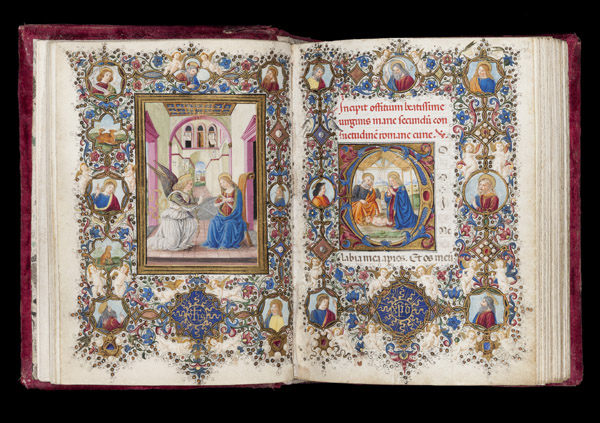 Book of Hours  illuminated by Vante di Gabriello di Vante Attavanti (act. c.1480 - 1485), Florence, c.1480  - c.1490, tempera on  parchment. Courtesy of the Fitzwilliam Museum.