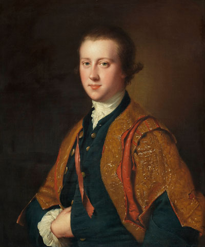 The Hon. Richard Fitzwilliam, 7th Viscount Fitzwilliam of Merrion , Joseph Wright (1734 - 1797), oil on canvas,  height 74.9cm, width  62.2cm. Courtesy of the Fitzwilliam Museum.