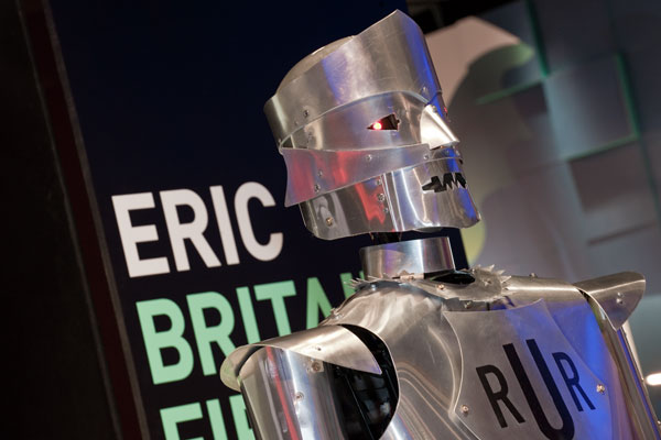 Eric the Robot, a working copy of Britain's first robot. Courtesy of the Board of trustees of the Science Museum