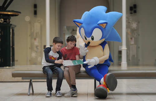 Sonic the Hedgehog heralds the forthcoming National Museums Scotland Games Master