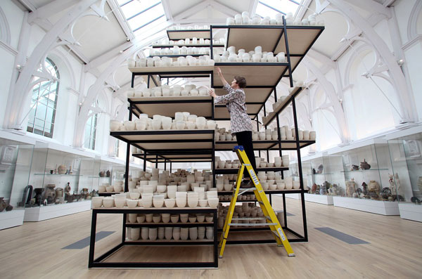 Clare Twomey's Manifest 10,000 hours.  Courtesy of York Museums Trust.