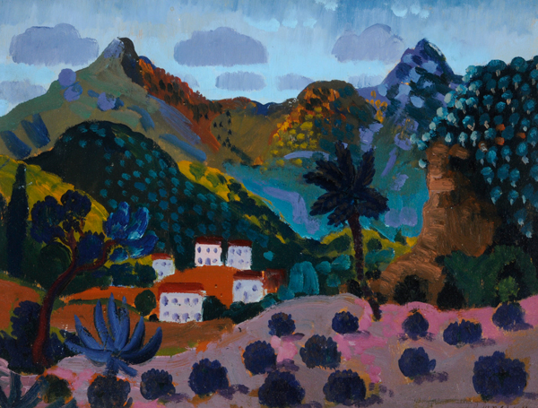 Images this month are courtesy of Museums Sheffield and show pictures from 'A Cultural Legacy - Remembering Frank Constantine' at the Graves Gallery. James Dickson Innes, Mediterranean Coast Scene (Landscape Pyrenees), 1911