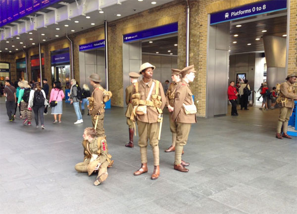 Images taken at King's Cross as part of the 14 - 18 NOW commemoration of the Battle of the Somme.  Many thanks to Emily Watts @EmilyPrevCons for allowing us to use her pictures of the event.