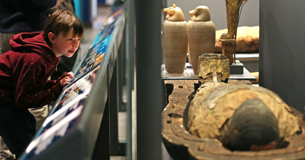 The newly reopened Ancient Egyptian Galleries at the World Museum, Liverpool, photographed by Gareth Jones