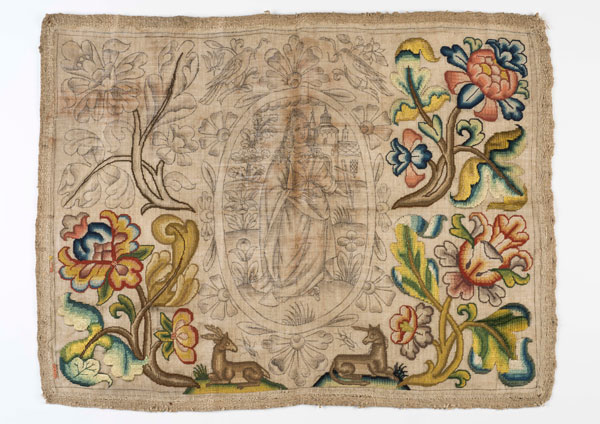Needlework panel reputedly saved from the Great Fire of London, courtesy of the Museum of London.  The museum's exhibition and programme to mark 350 years since the conflagration begins in September.