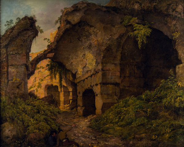 Two works by Joseph Wright of Derby; the Coloseum by Daylight and the Coloseum by Moonlight, were severely over painted in the 1960s. To restore them back to their original glory, conservators have been working to reveal the original works underneath. They will be displayed as part of the Grand Tour Season 2 exhibition, Joseph Wright and the Lure of Italy. Images courtesy of Deby Museums Trust.