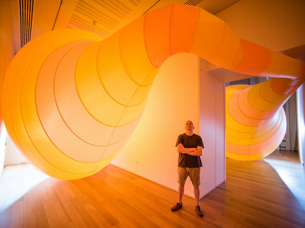 This month we feature Michael Shaw's installations at RAMM. 'Sculpting the Museum' continues to 13th November. Photo: Matt Austin, courtesy of RAMM