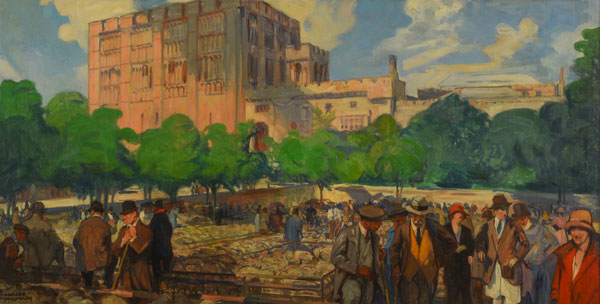 norfolk castle 1920s painting